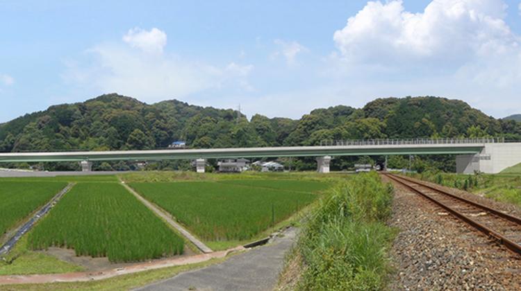 災害・観光・医療アクセスを叶える 新宮紀宝道路 JR高架橋 建設プロジェクト