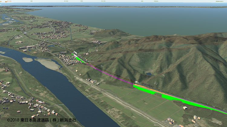磐越自動車道・日本海東北自動車道 4車線化をCIMを使用して概略設計