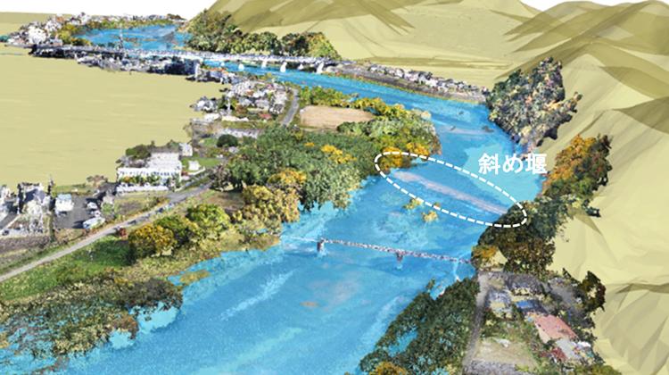 歴史的河川施設である斜め堰の治水効果を 3次元流体解析技術により定量化