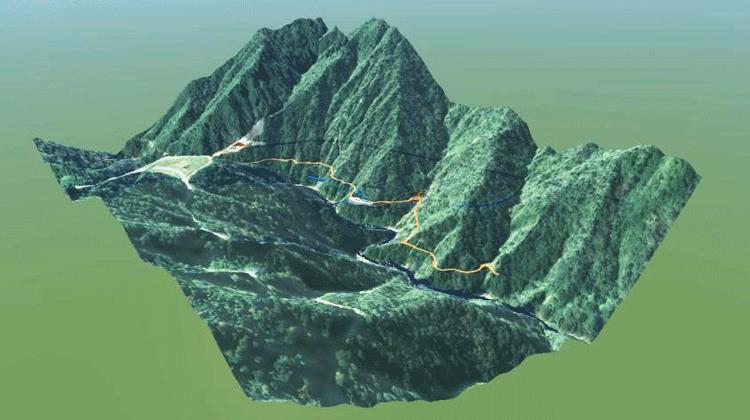 利賀ダム事業で計画された「河床進入トンネル詳細設計」でCIMモデルを有効活用