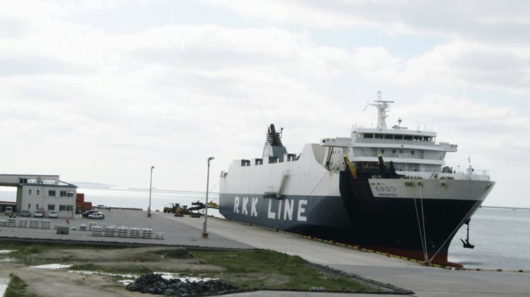 中城湾港における外内貿定期航路の充実に向けた実証事業
